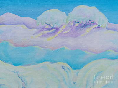 Snowscape Painting - Fantasy Snowscape by Michele Myers