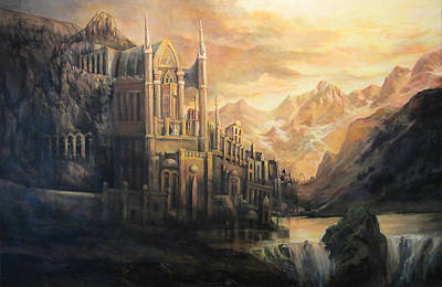 Matte Painting - Fantasy Study by Donna Tucker