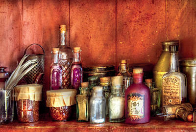 Cookbook Photograph - Fantasy - Wizard's Ingredients by Mike Savad