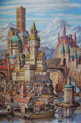 Fantasy World Print by Henry David Potwin