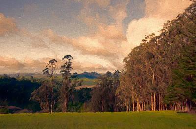 Grass Mixed Media - Faraway Hill by John K Woodruff