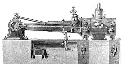 Farcot Steam Engine Print by Science Photo Library