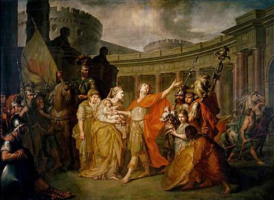 Anton Losenko Painting - Farewell Of Hector And Andromache by Anton Losenko