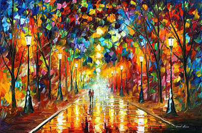 Park Oil Painting - Farewell To Anger by Leonid Afremov
