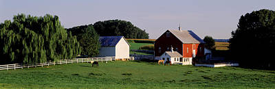 Horse Farm Maryland Photograph - Farm, Baltimore County, Maryland, Usa by Panoramic Images