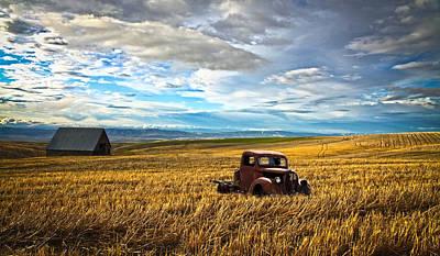 Farm Field Pickup Print by Steve McKinzie