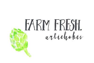 Artichoke Painting - Farm Fresh Artichokes II by Pamela J. Wingard