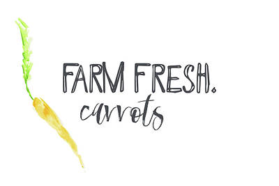 Carrot Painting - Farm Fresh Carrots II by Pamela J. Wingard