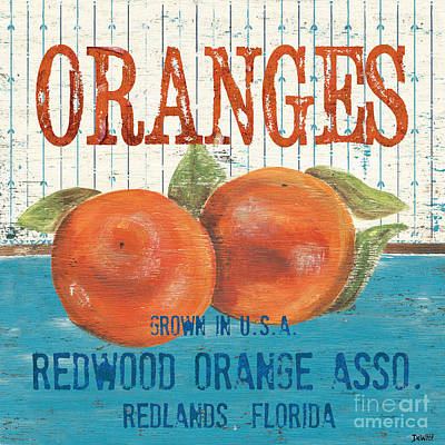 Orange Painting - Farm Fresh Fruit 2 by Debbie DeWitt