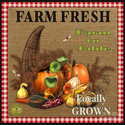 Farm Fresh-jp2384 Print by Jean Plout