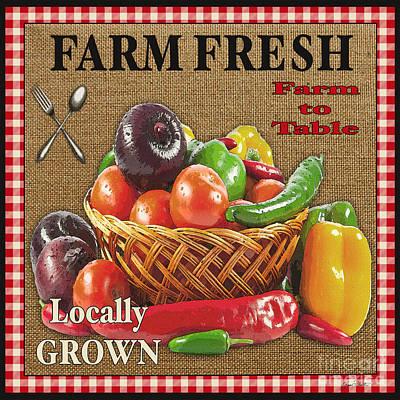 Farm Fresh-jp2385 Print by Jean Plout
