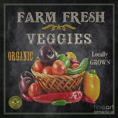 Farm Fresh-jp2637 Print by Jean Plout