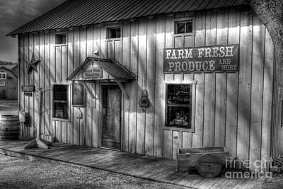 Indiana Scenes Photograph - Farm Fresh Produce Bw by Mel Steinhauer
