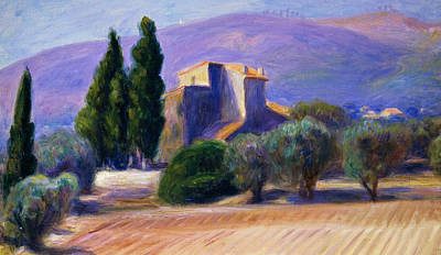 Farm House In Provence Print by William James Glackens