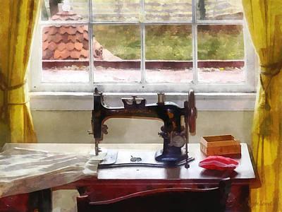 Pincushion Photograph - Farm House With Sewing Machine by Susan Savad
