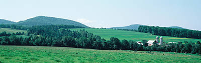 2 Solitudes Photograph - Farm In A Field, Danville, Vermont, Usa by Panoramic Images