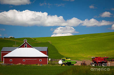 Farm Machinery Print by Inge Johnsson