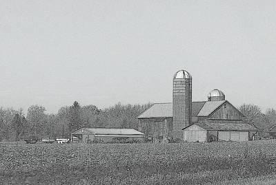 Farm Of Newaygo County Michigan Print by Rosemarie E Seppala