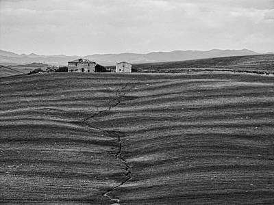 Farm Sienna Print by Hugh Smith