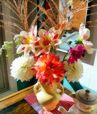 Flowers Photograph - Farm Table Bouquet by Michelle Calkins