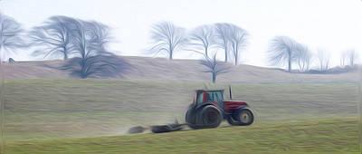 Farm Tractor Print by Stefan Petrovici