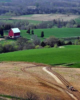 Photograph - Farm Work by Dan  Dickerson