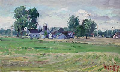 Cornfield Painting - Farm by Ylli Haruni