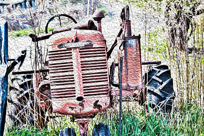 All Faa Photograph - Farmall - Antique - Recycling by Crystal Harman