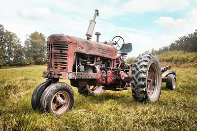 Farmall Tractor Dream - Farm Machinary - Industrial Decor Print by Gary Heller