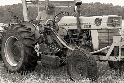 Farmer And His Tractor Print by Kathleen Struckle