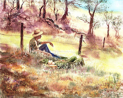 Shadows Painting - Farmers And Hunters Heaven by Irina Sztukowski