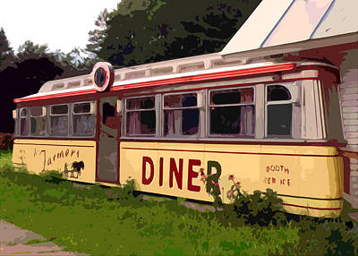 Farmers Diner Print by Jean Hall