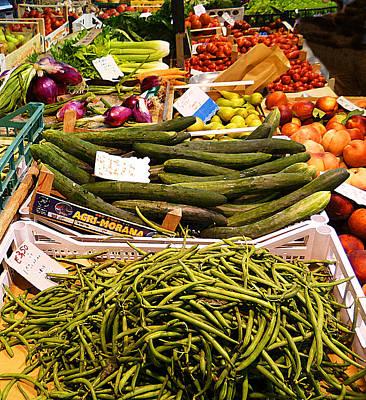 Dried Photograph - Farmers Market Florence Italy by Irina Sztukowski