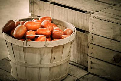 Farm Stand Photograph - Farmers Market Plum Tomatoes by Julie Palencia