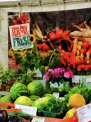 Tomatoes Photograph - Farmer's Market by Susan Savad