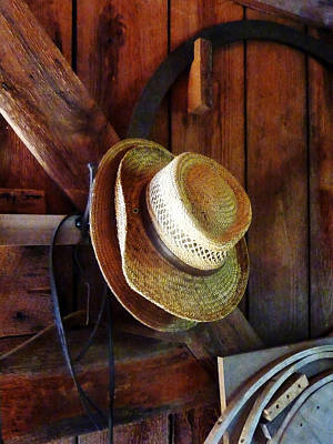 Savad Photograph - Farmer's Straw Hats by Susan Savad