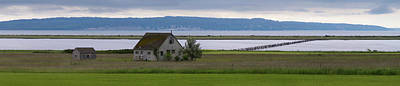 Farmhouse In A Field Along Shore Print by Panoramic Images