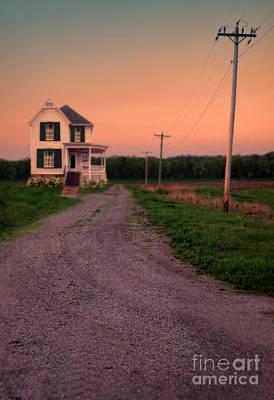 Haunted House Photograph - Farmhouse On Gravel Road by Jill Battaglia