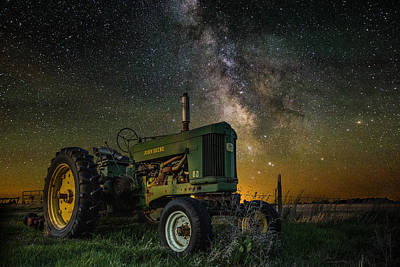 Glow Photograph - Farming The Rift 3 by Aaron J Groen