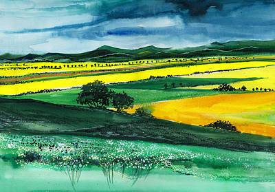 Farmland 1 Print by Anil Nene