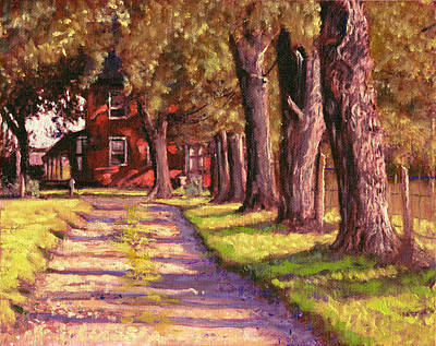 Impressionism Painting - Farmland Drive Large by David Zimmerman