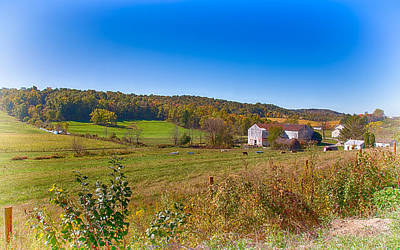 Animal Photograph - Farmland In Amish Country by John M Bailey