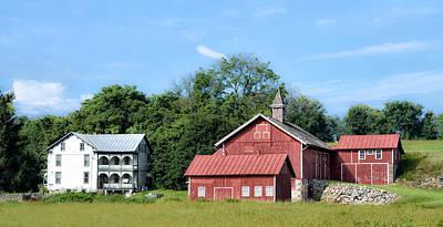 Barn Photograph - Farmville by Bill Cannon