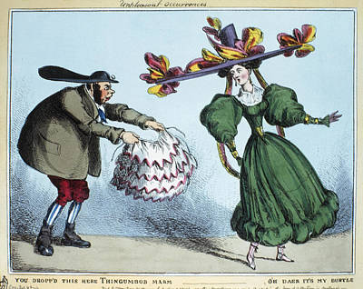 Upper Classes Painting - Fashion Bustle, C1830 by Granger