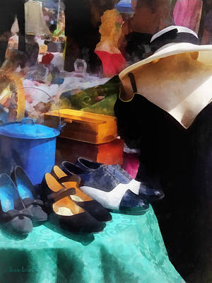 Shoe Photograph - Fashion - Clothing For Sale At Flea Market by Susan Savad