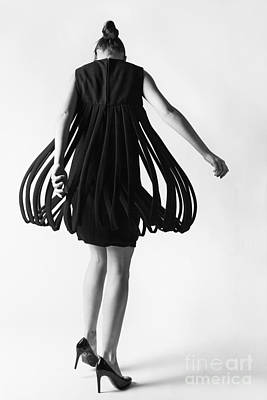 Fashion Model Photograph - Pierre Cardin Car Wash Dress by Diane Diederich