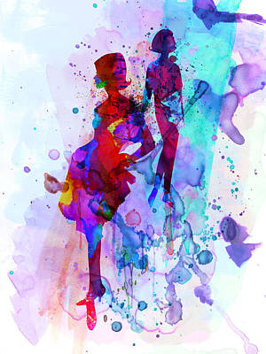 Couple Mixed Media - Fashion Models 5 by Naxart Studio