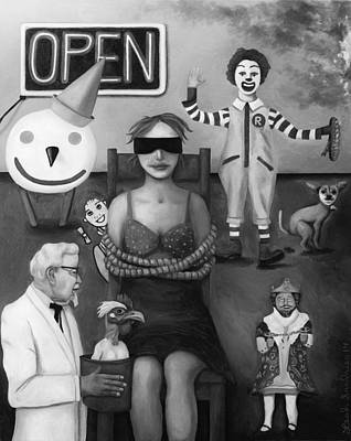 Kentucky Painting - Fast Food Nightmare 3 Edit 3 by Leah Saulnier The Painting Maniac