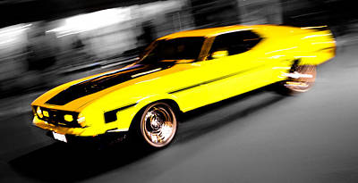 Phil Motography Clark Photograph - Fast Ford Mustang Mach 1 by Phil 'motography' Clark