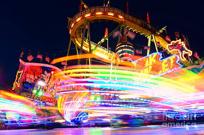 Rollercoaster Photograph - Fast Ride At The Octoberfest In Munich by Sabine Jacobs